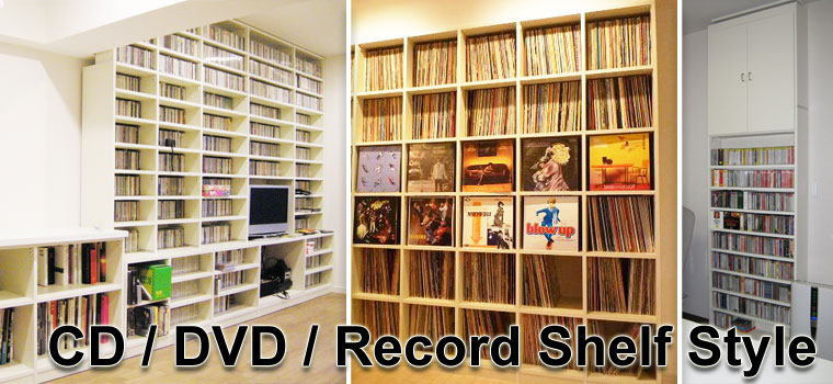 CD/DVD/Record Shelf Style